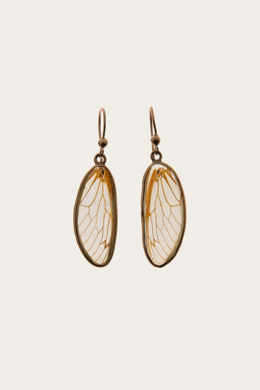 Dragonfly Wing Earrings | Blue Morpho Jewelry
