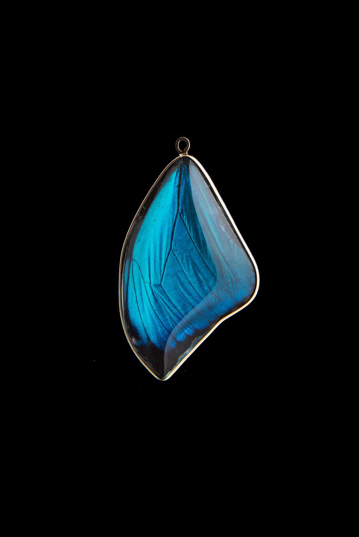 Blue Morpho Pendant Medium Blue Morpho Jewelry