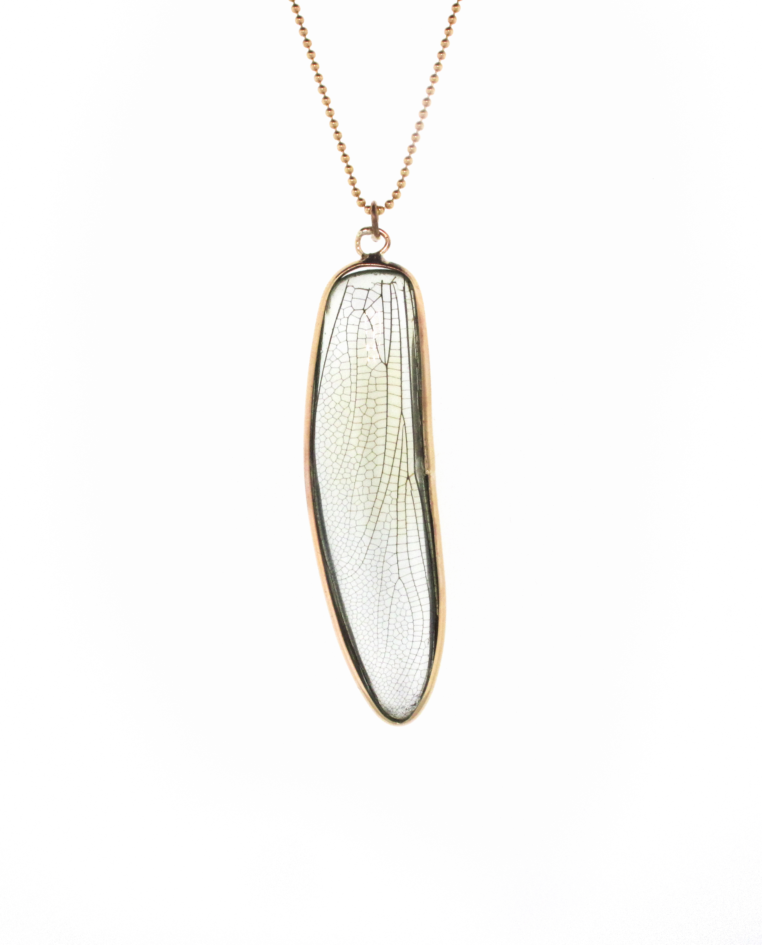 Dragonfly Wing Pendant | Blue Morpho Jewelry